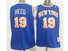 Mens Nba New York Knicks #19 Willis Reed Blue Jersey