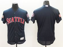 mens majestic seattle mariners blank dark blue fashion stars stripes Flex Base jersey
