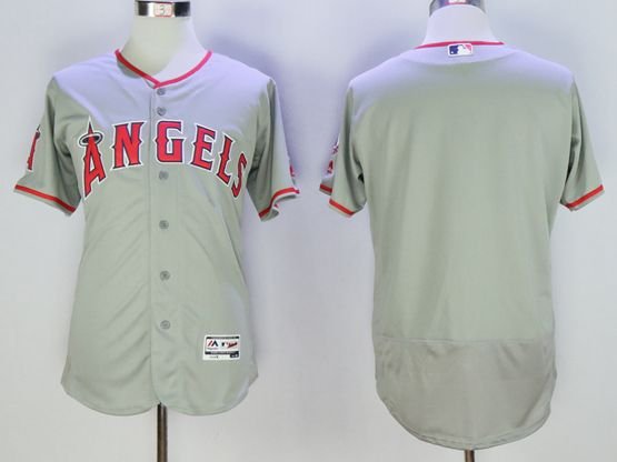 Mens Majestic Los Angeles Angels Blank Gray Flexbase Jersey