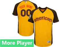 Mens American League Majestic Gold 2016 Mlb All Star Game Cool Base Jersey With Team Patch For Men Women