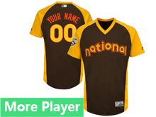 Mens American League Majestic Brown 2016 Mlb All Star Game Cool Base Jersey With Team Patch For Men Women