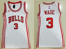 Women  Nba Chicago Bulls #3 Dwyane Wade White Jersey