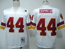 Mens nfl washington redskins #44 riggins white throwbacks Jersey