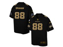 Mens Nfl Seattle Seahawks #88 Jimmy Graham Pro Line Black Gold Collection Jersey