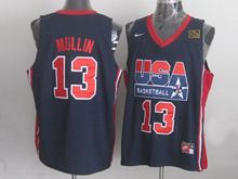 Mens Nba 1 Dream Team #13 Mullin Blue Jersey