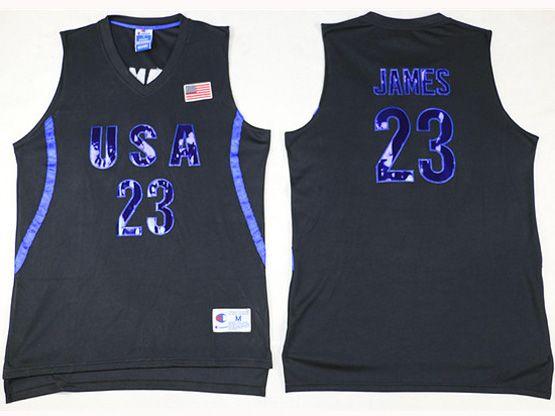 Mens Nba 12 Dream Teams #23 James Black Jersey