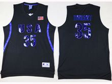 Mens Nba 12 Dream Teams #35 Durant Black Jersey