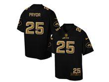 Mens Nfl New York Jets #25 Calvin Pryor Pro Line Black Gold Collection Jersey