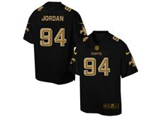 Mens Nfl New Orleans Saints #94 Cameron Jordan Pro Line Black Gold Collection Jersey