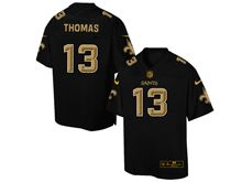 Mens Nfl New Orleans Saints #13 Michael Thomas Pro Line Black Gold Collection Jersey