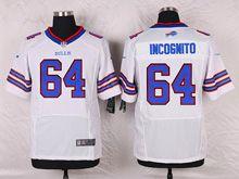 Mens Nfl Buffalo Bills #64 Richie Incognito White Elite Jersey