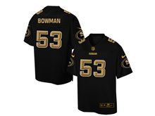 Mens Nfl San Francisco 49ers #53 Navorro Bowman Pro Line Black Gold Collection Jersey