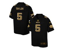 Mens Nfl Buffalo Bills #5 Tyrod Taylor Pro Line Black Gold Collection Jersey