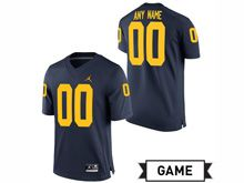 Mens Jordan University Of Michigan Football Navy  Game Jersey