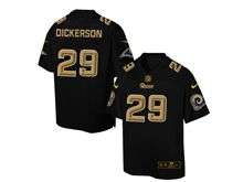 Mens Nfl St. Louis Rams #29 Eric Dickerson Pro Line Black Gold Collection Jersey