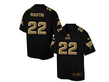 Mens Nfl Tampa Bay Buccaneers #22 Doug Martin Pro Line Black Gold Collection Jersey