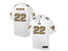 Mens Nfl Tampa Bay Buccaneers #22 Doug Martin Pro Line White Gold Collection Jersey