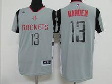 Mens Nba Houston Rockets #13 Harden Gray Revolution 30 Jersey