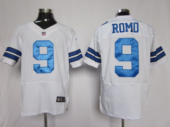 Mens Nfl Dallas Cowboys #9 Tony Romo White Elite Jersey