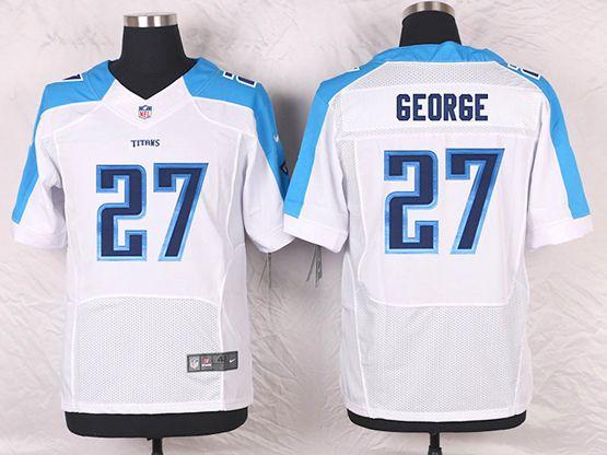 Mens Nfl Tennessee Titans #27 Eddie George White Elite Jersey