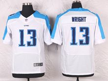 Mens Nfl Tennessee Titans #13 Kendall Wright White Elite Jersey
