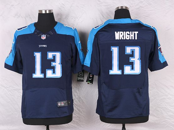 Mens Nfl Tennessee Titans #13 Kendall Wright Navy Blue Alternate Elite Jersey