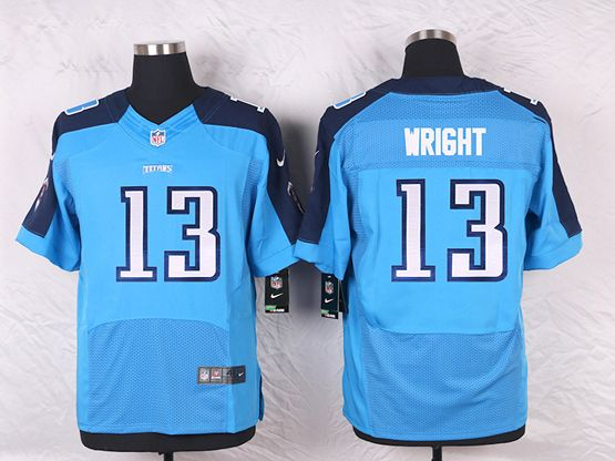 Mens Nfl Tennessee Titans #13 Kendall Wright Light Blue Elite Jersey