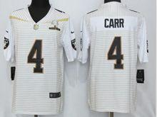 Mens Nfl Oakland Raiders #4 Derek Carr White (2016 Pro Bowl) Jersey