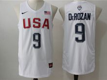 Mens Nba 12 Dream Teams #9 Demar Derozan White Jersey
