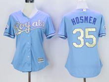 Women Mlb Kansas City Royals #35 Eric Hosmer (kc) Light Blue Champion Version Jersey