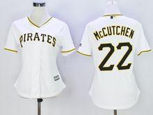 Women Mlb Pittsburgh Pirates #22 Andrew Mccutchen White Jersey