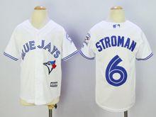 Women Majestic Toronto Blue Jays #6 Marcus Stroman White Jersey