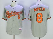 Mens Mlb Baltimore Orioles #8 Cal Ripken Gray Jersey