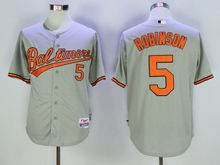 Mens Mlb Baltimore Orioles #5 Brooks Robinson Gray Jersey