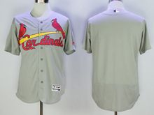 Mens Majestic St.louis Cardinals Blank Gray Flex Base Jersey