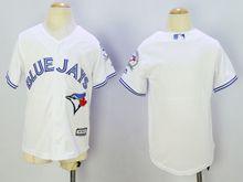 Women Majestic Toronto Blue Jays Blank White Jersey