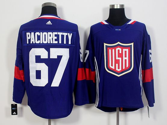 Mens Team Usa #67 Max Pacioretty Blue 2016 World Cup Hockey Jersey