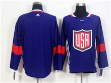 Mens Team Usa Blank Blue 2016 World Cup Hockey Jersey