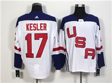 Mens Team Usa #17 Ryan Kesler White 2016 World Cup Hockey Jersey