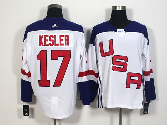Mens Team Usa #17 Ryan Kesler White 2016 World Cup Hockey Jersey