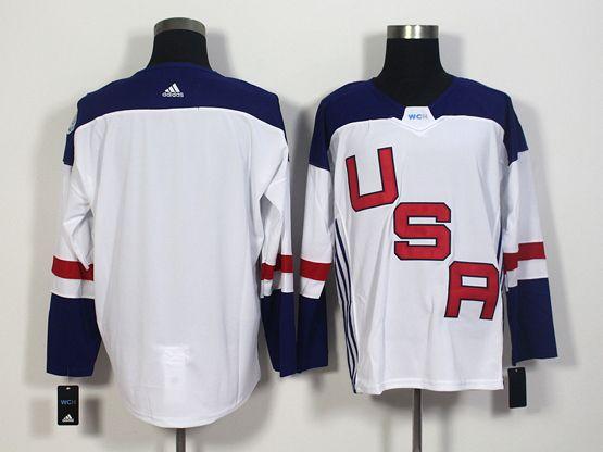 Mens Team Usa Blank White 2016 World Cup Hockey Jersey