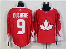 Mens Team Canada #9 Matt Duchene Red 2016 World Cup Hockey Jersey