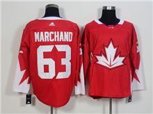 Mens Team Canada #63 Brad Marchand Red 2016 World Cup Hockey Jersey