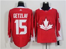 Mens Team Canada #15 Ryan Getzlaf Red 2016 World Cup Hockey Jersey