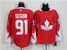 Mens Team Canada #91 Tyler Seguin Red 2016 World Cup Hockey Jersey