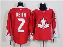 Mens Team Canada #2 Duncan Keith Red 2016 World Cup Hockey Jersey