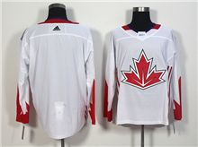 Mens Team Canada (custom Made) White 2016 World Cup Hockey Jersey