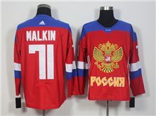 Team Russia #71 Evgeni Malkin Red 2016 World Cup Hockey Jersey