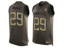 mens nfl tennessee titans #29 demarco murray Green salute to service limited tank top jersey