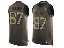 mens men   new york jets #87 eric decker Green salute to service limited tank top jersey